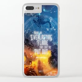 Zodiac - Everlasting Flame Clear iPhone Case