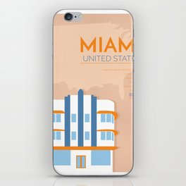 Miami Poster iPhone Skin