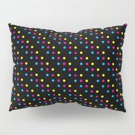 Dark CMYK Polka Dots Pillow Sham