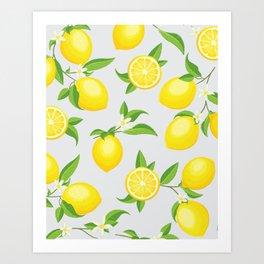 fe5f7ed86 You re the Zest - Lemons on White Art Print
