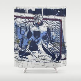 The Goal Keeper - Ice Hockey Shower Curtain