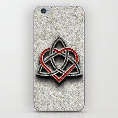 Celtic Knotwork Valentine Heart Bone Texture 1 iPhone & iPod Skin