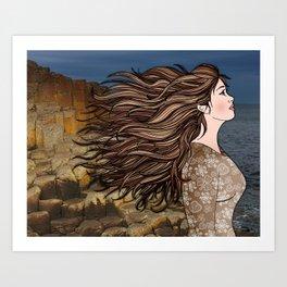 Fionnuala at The Giant's Causeway Art Print