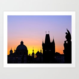 Sunrise at Karluv Most, Prague Art Print