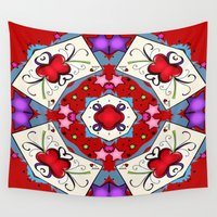 ace Wall Tapestries featuring Ace Of Hearts by apgme