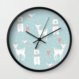 Fawn and Bear Wall Clock