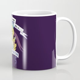 Miss Who Stuffs Her Face in purple Coffee Mug