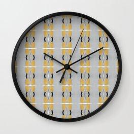 Yellows and Greys Wall Clock
