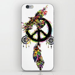 Peace dream cather iPhone Skin