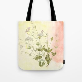 The air the flower breathes Tote Bag