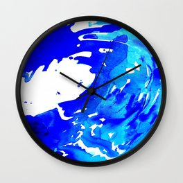 Save The Water Watercolour Wall Clock