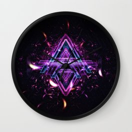 A for Abstraxtion Wall Clock