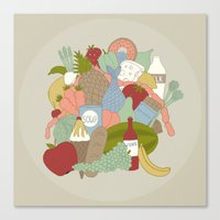 food Canvas Prints featuring FOOD by Nora