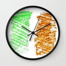 flag of ireland 10 -ireland,eire,airlann,irish,gaelic,eriu,celtic,dublin,belfast,joyce,beckett Wall Clock