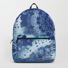 Chambray Anenome Mandala Backpack