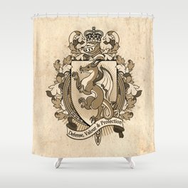 Dragon Coat Of Arms Heraldry Shower Curtain