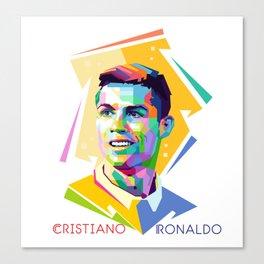 Cristiano Ronaldo In Pop Art Canvas Print