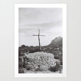 forest of crosses Art Print