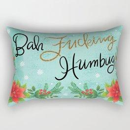 Pretty Sweary Holidays: Bah Humbug Rectangular Pillow