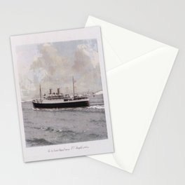 old placard the new zealand shipping companys mv rangitiki new zealand Stationery Cards