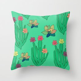 Succulents Throw Pillow