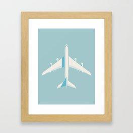 A380 Super Jumbo Jet Airliner - Sky Framed Art Print