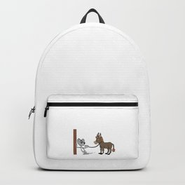 Mouse and donkey i font give a funny tshirt for men women and kids Backpack
