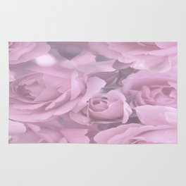 Pink Rose Bouquet Romantic Atmosphere #decor #society6 #buyart Rug