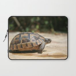 Sideview of A Walking Turkish Tortoise Laptop Sleeve