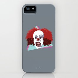Evil clown it halloween iPhone Case