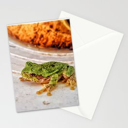 Treefrog in a Bucket Stationery Cards