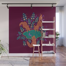 Three Foxes Wall Mural