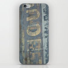 Warehouse District -- Rustic Country Chic Abstract with Letters iPhone & iPod Skin