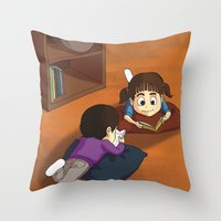 reading Throw Pillows featuring Reading by Ana  La Bella Carapinheiro