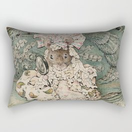 Cute little Mouse dressed up Rectangular Pillow