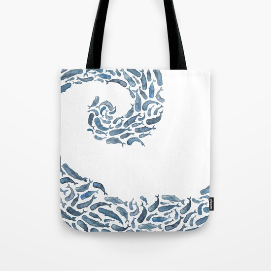 Whale Wave.  Tote Bag