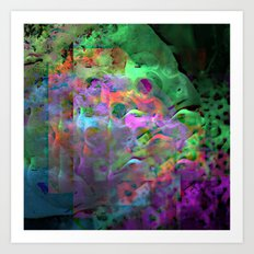 Fish in a tank, flustered. Art Print