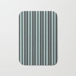 Gray & Black Stripes Bath Mat