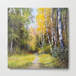 Birch Grove # 3 Metal Print
