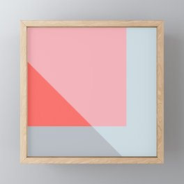 Mélange No. 2 Modern Geometric Framed Mini Art Print