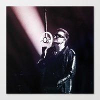 u2 Canvas Prints featuring U2 / Bono 4 by JR van Kampen