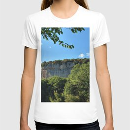 rock cliff at lim channel fjord istria croatia europe T-shirt