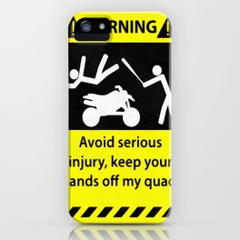 Quad Warning iPhone Case