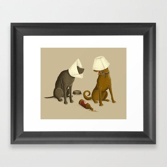 Drunk Dog Framed Art Print