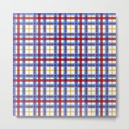 Marigold Plaid Metal Print