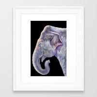 asian Framed Art Prints featuring Asian Elephant by Tim Jeffs Art
