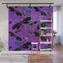 DragonFly Purple Wall Mural