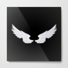 White Angel Wings Metal Print