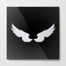 White Angel Wings Metal Print