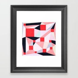 Red Squares Framed Art Print